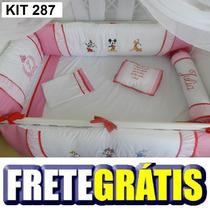 Kit Berço Personalizados 10 Pçs Provençal Disney Baby Rosa