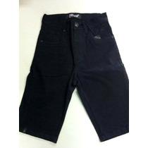 Bermuda Masculina Jeans Preta Skinning