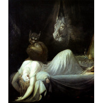 Mulher Com Pesadelo Gato Cavalo Pintor Fuseli Tela Repro