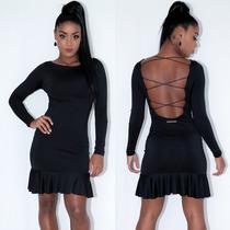 Vestido Liso Roupas Femininas Blogueira Estiloso Fashion