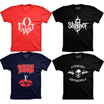 Camisetas De Bandas Rappa Slipknot Soad Rush Acdc Nirvana
