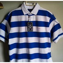 Camisa Polo Masculina Elle Et Lui Azul /branco Tm M & G