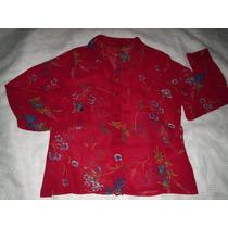 Camisa Feminina Estampa Floral Tamanho M