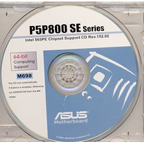Cd Drivers Original Placa Mae Asus P5p800 Se Series Frete Gr