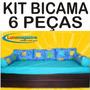 Kit Bi Cama Solteiro 3 Almofadas 2 Rolinhos + Lençol Lindo!