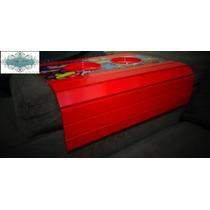 Kit 02 Esteiras Para Sofá Porta Copo Vermelho Romero Britto