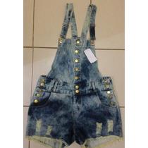 Jardineira Jeans Plus Size Disponível 44 Ao 52! Frete Gratis