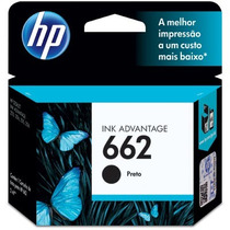 Cartucho Hp 662 Preto Original Advantage 3516 2516 3515 1516