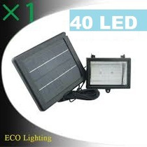 Luminaria Refletor 40led Holofot Solar Luz Branca .etaqui