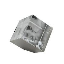 Cubo De Vidro 3d Para 03 Fotos 5x5 Cm Pf-429