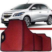 Jogo Tapete Automotivo Carro Onix Cobalt Prisma Vermelho