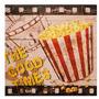 Tela Impressa Pop Corn Movies Fullway 40x40x1,8cm Luxo