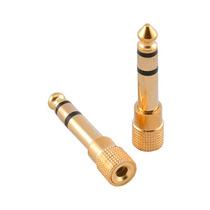 Plug Adaptador P2/p10 Stereo - Gold - Dourado- Koss Akg