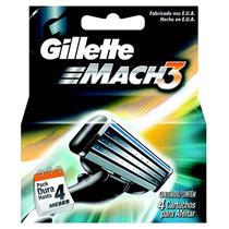 Gillette Mach 3 Comum C/ 4 Cartuchos
