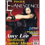 Revista Pôster Evanescence Raríssima = Amy Lee 52cm X 81cm!!