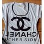 4 Camisetas Feminina Com Aplicação De Pedras- Blusa/ T-shirt