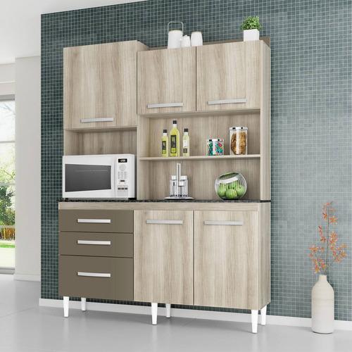 Armário de Cozinha completo Aramóveis  Preços no Buscapé # Armario De Cozinha Completo Extra
