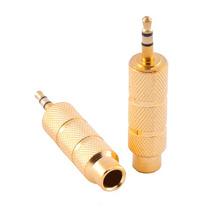 Plug Adaptador P10/p2 P10 P2 Stereo - Gold Dourado- Koss Akg