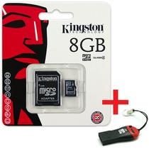 Cartão Memória Micro Sd Kingston 8gb +leitor + Frete Grátis