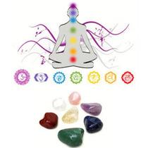 Kit De Pedras Para Os Chakras Semi Preciosas Com 10 Peças