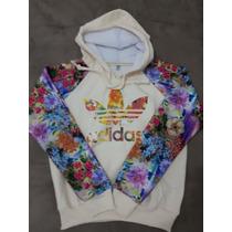 Blusa Moletom Feminino - Adidas Florida Floral - Imediato