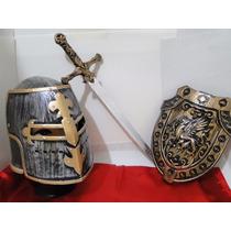 Fantasia Sword Armadura Peitoral Espada Dourada Elmo Medieva