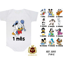 Body Mickey Baby Mesversario Herois Personagem Kit Com 12 Un