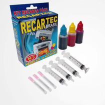Kit Recarga Preto E Color Cartucho Hp 21 122 60 662 61 901
