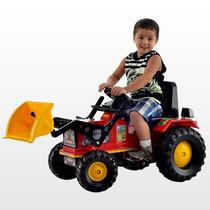 Trator Infantil Farmer Com Pá Vermelho Pedal Buzina - Biemme