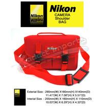 Bolsa Nikon Red M2 * P510 L810 D70s D90 D3100 D3200 D5100