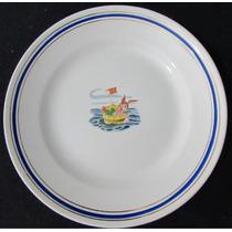 Prato Antigo Para Sobremesa Porcelana Porto Ferreira - A1