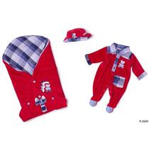 Saída Maternidade Plush Urso Vermelho Reve Dor - Rn