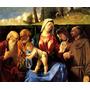 Maria Menino Jesus Santos Francisco Pintor Lotto Tela Repro