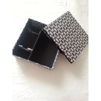 Caixa Para Mini Chandon E Uma Taça De Mdf Forrada Com Tecido