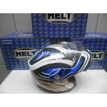 Capacete Helt Hippo New 936 Azul Brilhante Tam. 60 Novo
