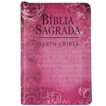 Bíblia Média Harpa Ziper Covertex Flores