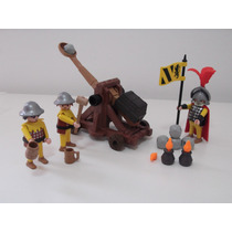 Playmobil Estrela Medieval - Catapulta E Soldados - 30.22.23