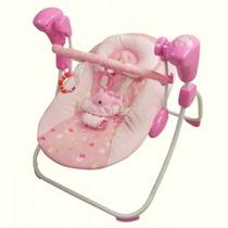 Cadeira Musical Swing Com Balanço Automático Rosa