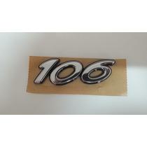 Emblema Tampa Traseira Peugeot 106 Original Cod: 8663 Ln