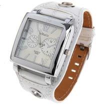 Relógio Style Fashion. Bracelete De Couro. Entrega Imediata.