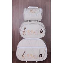 Kit Bebê Maternidade 3 Peças ( Mala Com Rodinhas) Safari