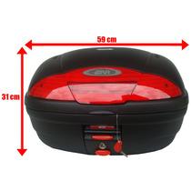 Bau Bauleto Givi 45 Litros E-450n Simply P/ Motos Vermelho