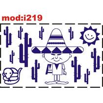 Adesivo I219 Mexicano Sol Deserto Quarto Menino Bebê Quarto