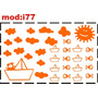 Adesivo I77 Barquinho De Papel Barco Sol Peixes Nuvens Adesi