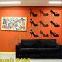 Adesivo Decorativo Mod D164 - Sapatos Salto Alto Mulher