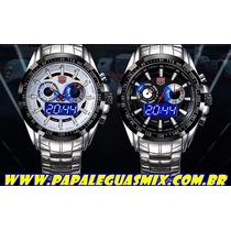 Relógio De Luxo Led Tvg Seals Elite Original