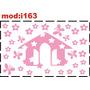 Adesivo I163 Casa Casinha Flores Florzinha Borboletas Menina
