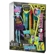Monster High Conjunto Crie Seu Monstro Boneca Monstro Do Mar