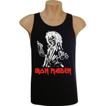 Camiseta Regata Masculina Iron Maiden Bandas Rock