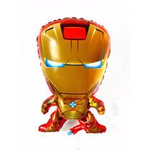 Balão Metalizado Homem De Ferro - Vingadores - Kit 10 Balões